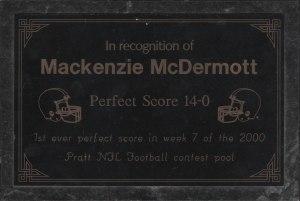 Macks perfect award