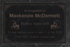 Macks perfect award