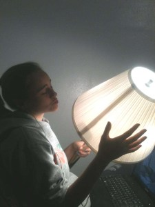 singing to a lamp