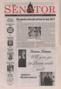 prom newspaper