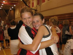 hugging Corinne