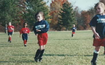 For one season, they were Fireball soccer teammates (Mack at right)