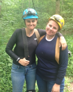 silly faces while caving in Missouri