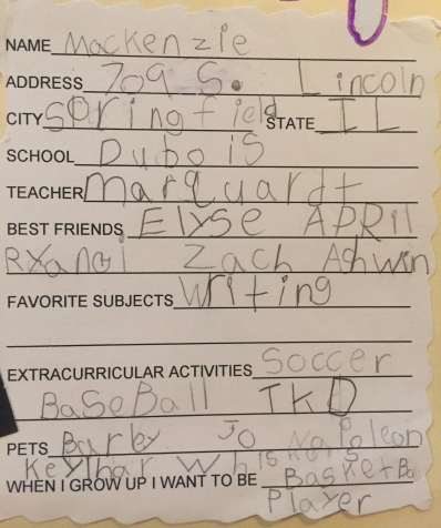 kindergarten bio