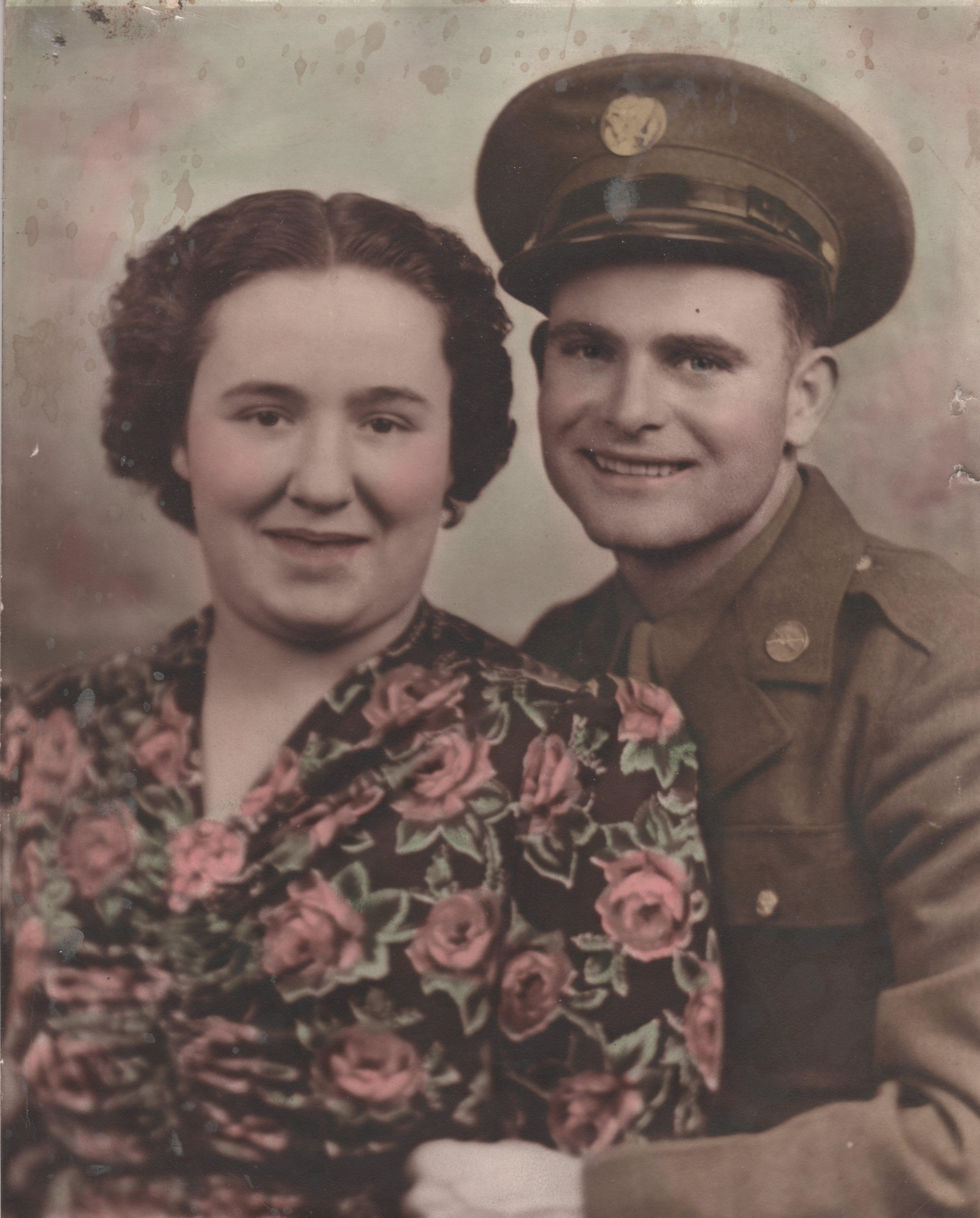 Kathleen and Clyde c1943